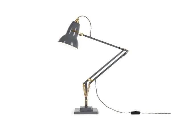 Original 1227 Messing bureaulamp Elephant Grey 2