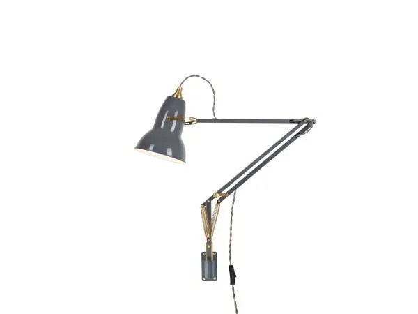 Original 1227 messing wandlamp anglepoise Elephant Grey 1