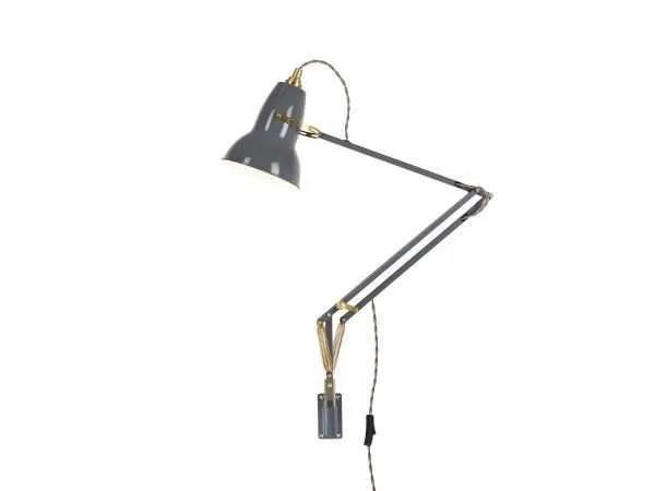Original 1227 messing wandlamp anglepoise Elephant Grey 2