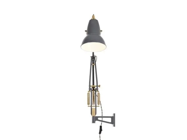 Original 1227 messing wandlamp anglepoise Elephant Grey 3