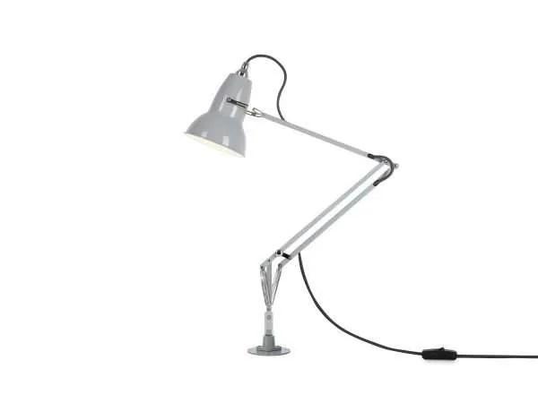 Original 1227 bureaulamp grijs met vaste voet 2