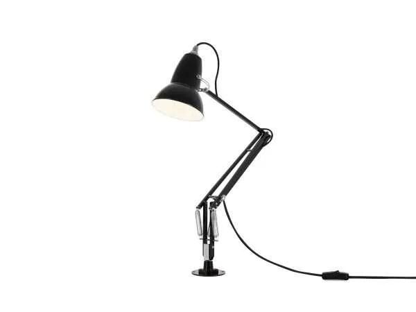 Original 1227 bureaulamp zwart met vaste voet 3