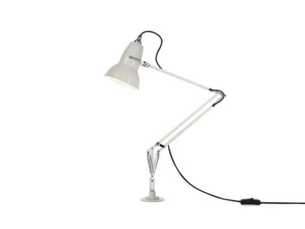 Original 1227 bureaulamp wit met vaste voet 2
