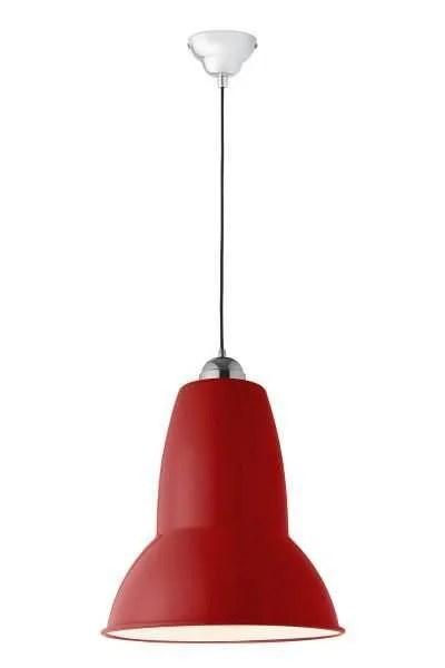 Original 1227 Gigant anglepoise hanglamp Crimson Red