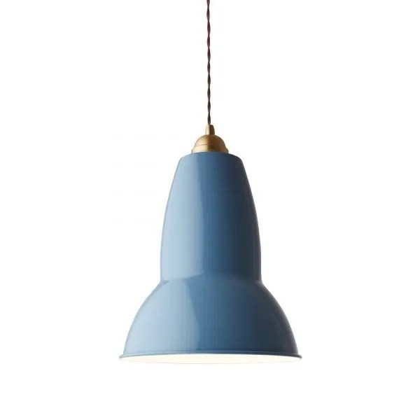 Original 1227 Messing Anglepoise XL Hanglamp - Dusty Blue 4