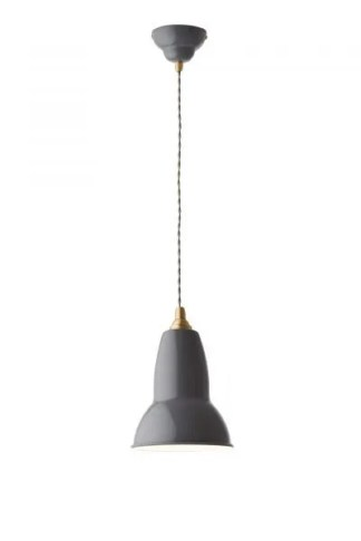 Original 1227 Messing Anglepoise hanglamp Elephant Grey 1