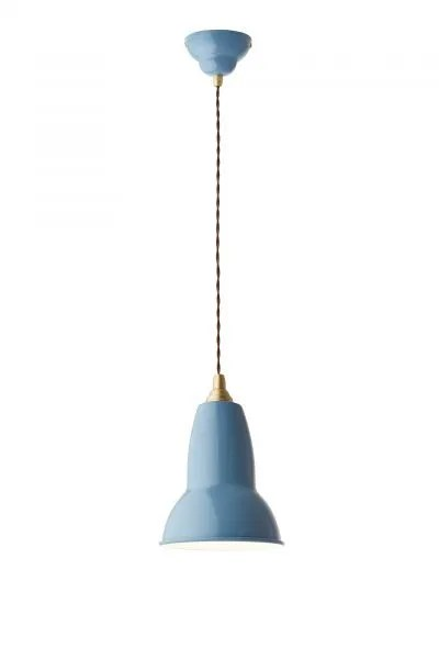 Original 1227 Messing anglepoise hanglamp Dusty Blue 1