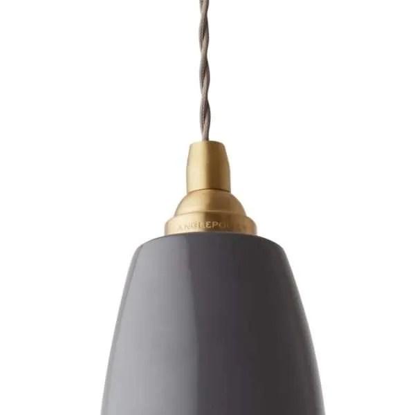 Original 1227 messing anglepoise hanglamp Elephant Grey 3