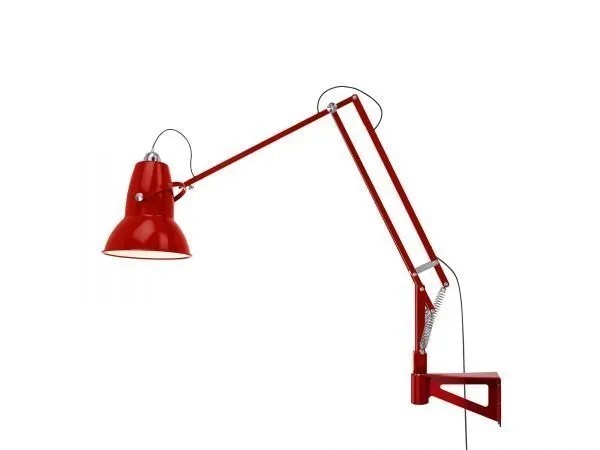 Original 1227 Giant Wall Mounted Lamp Crimson Red 5