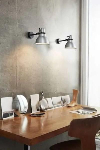 Anglepoise type 1228 Metallic wandlamp spot SIlver Lustre