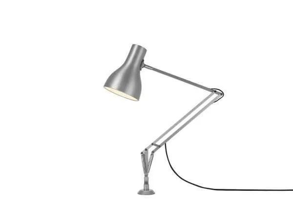 Anglepoise type 75 bureaulamp vaste bevestiging Brushed Aluminium 2