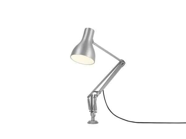 Anglepoise type 75 bureaulamp vaste bevestiging Brushed Aluminium 3