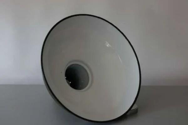Geëmailleerde groene hanglamp XL binnenkant