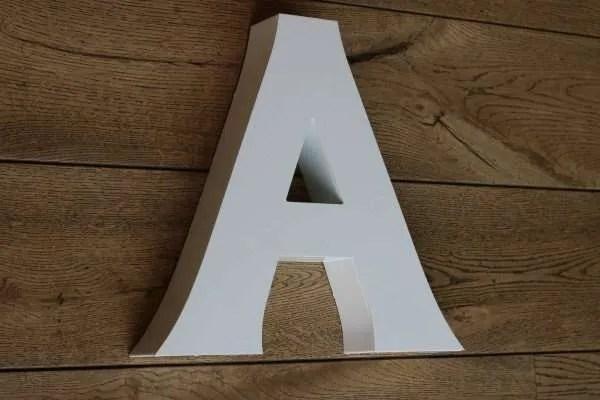 backlit letterlamp A 3