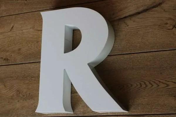 backlit letterlamp R 2