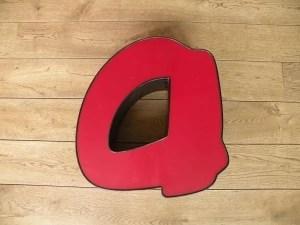 rood zwart letterlamp a 1