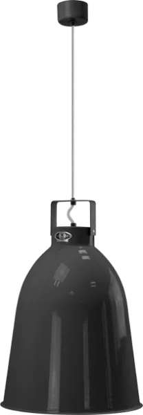 Jielde-Clement-C360-Hanglamp-Zwart-Hamerslag