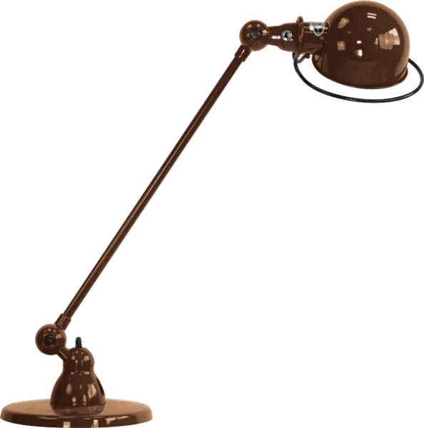 Jielde-Loft-D6000-bureaulamp-Koper-Hamerslag