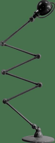 Jielde-Loft-D9406-vloerlamp-Zwart-Hamerslag