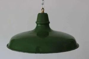 Groen geëmailleerde hanglamp XL 1