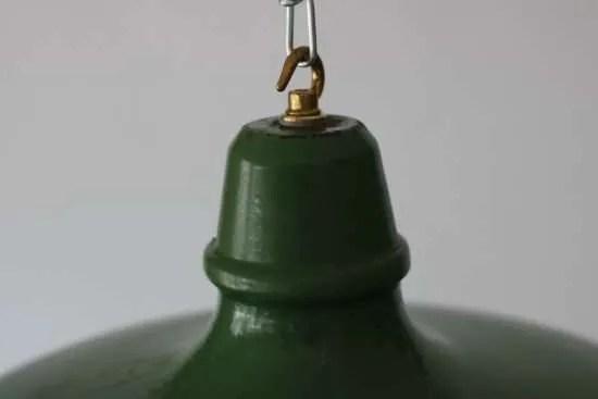 Groen geëmailleerde hanglamp XL 2