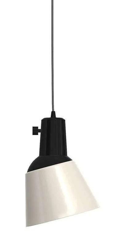 K831 bauhaus verstelbare hanglamp parelwit geëmailleerd