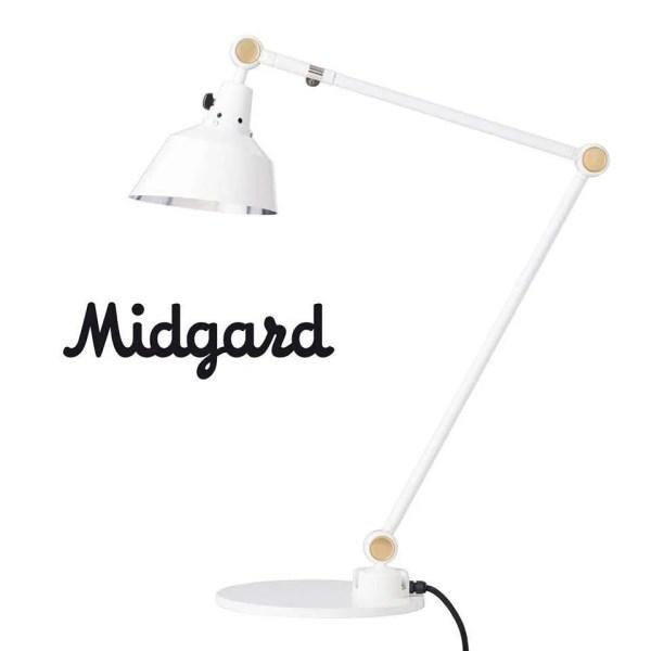 Midgard modulaire bureaulamp mooi wit