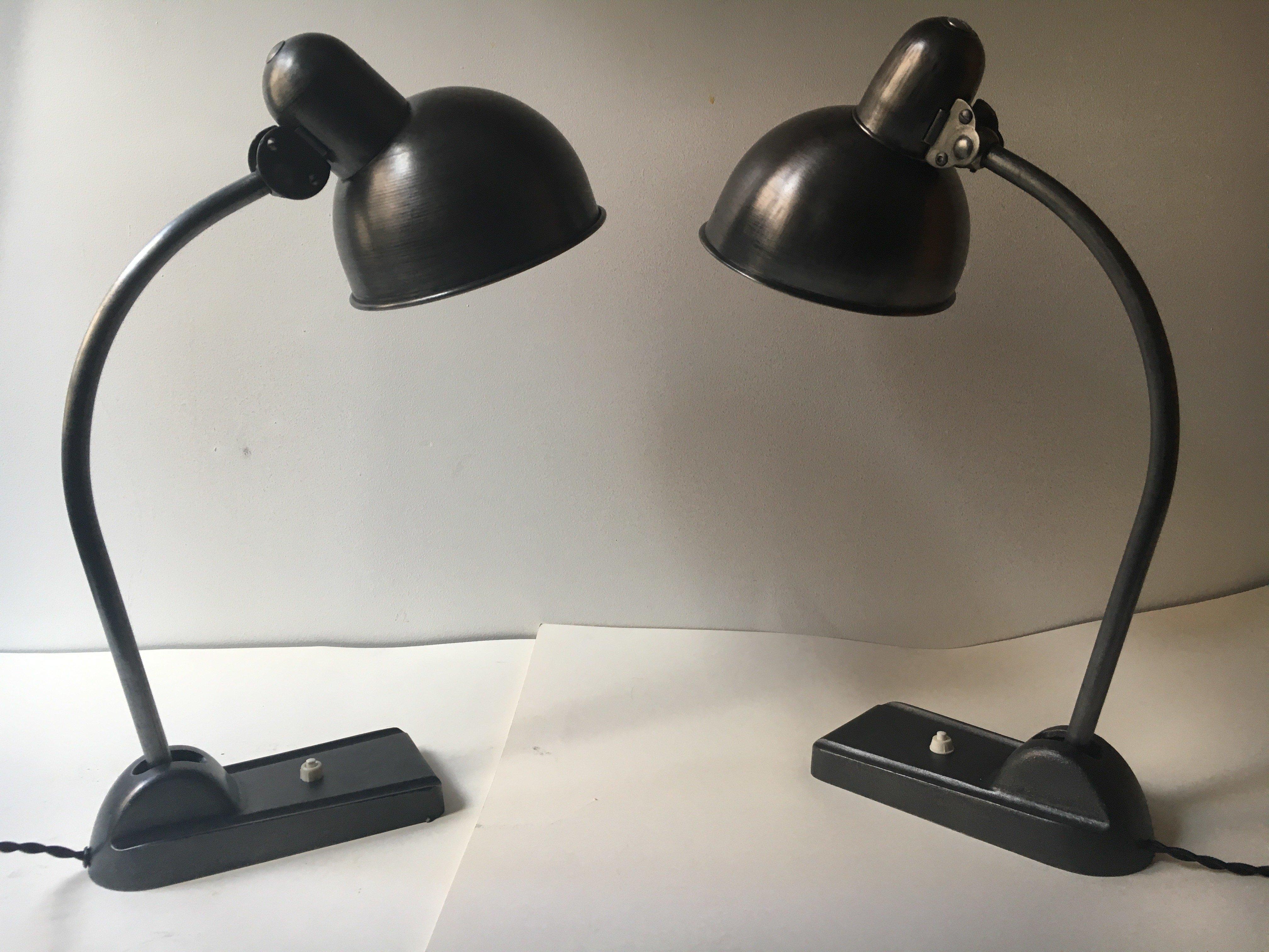 Bauhaus set jaren 30 lampen 6