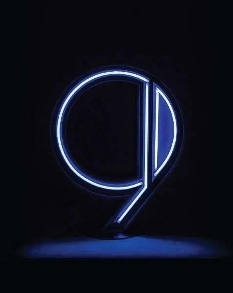 Delightfull letterlamp 9 aan