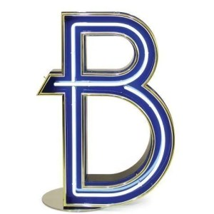 Delightfull letterlamp B front