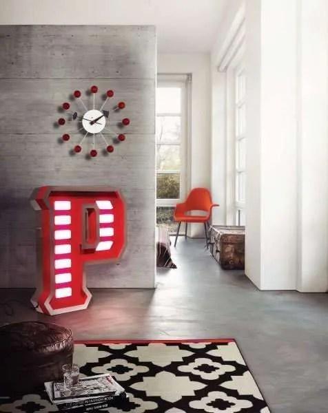 Delightfull letterlamp P huiskamer