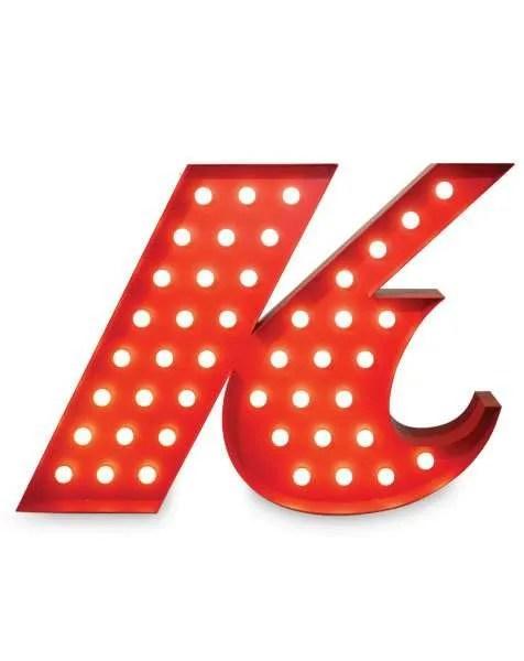 Delightfull letterlamp k front