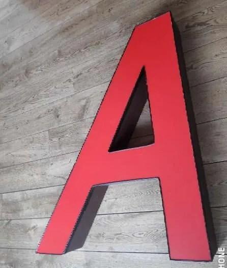 Rode letterlamp A 1
