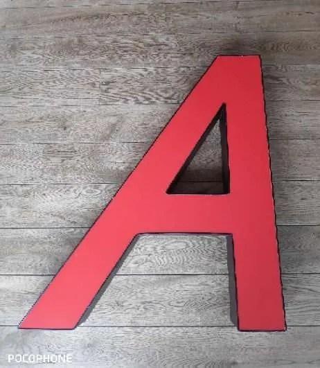 Rode letterlamp A 2