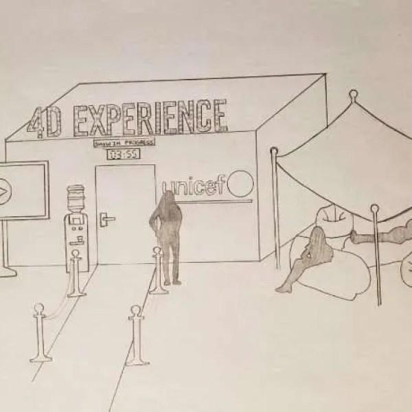 tekening unicef concept