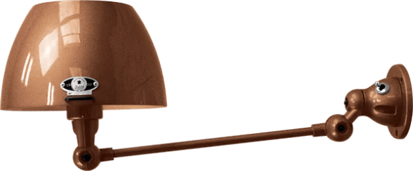 jielde-Aicler-AID301-wandlamp-hamerslag-koper-CUM-rond