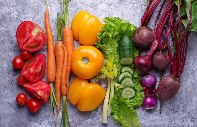 The colors of color psychology as vegetables