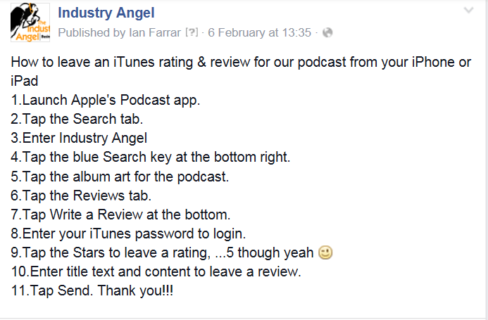 itunes review instructions