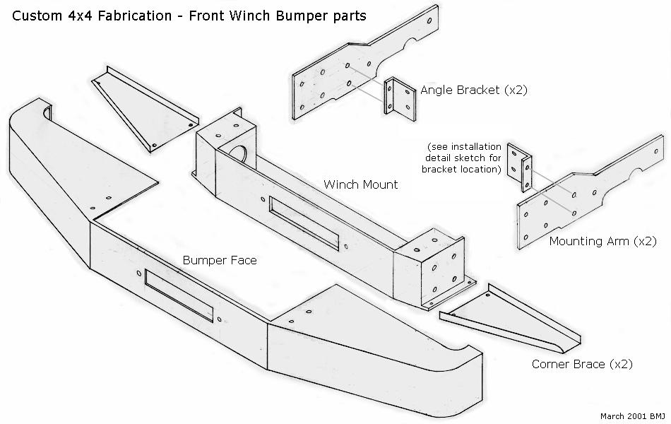 Cherokee Front Winch Bumper Installation