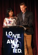 NASHVILLE, TN - AUGUST 10:  Singer CeCe Winans and Jason Roy from the band 'Building 429' attend the 47th Annual GMA Dove Awards Nominations Press Conference at the Shamblin Theatre, Lipscomb University on August 10, 2016 in Nashville, Tennessee.  (Photo by Terry Wyatt/Getty Images for Dove)