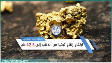 ارتفاع إنتاج الذهب في تركيا
