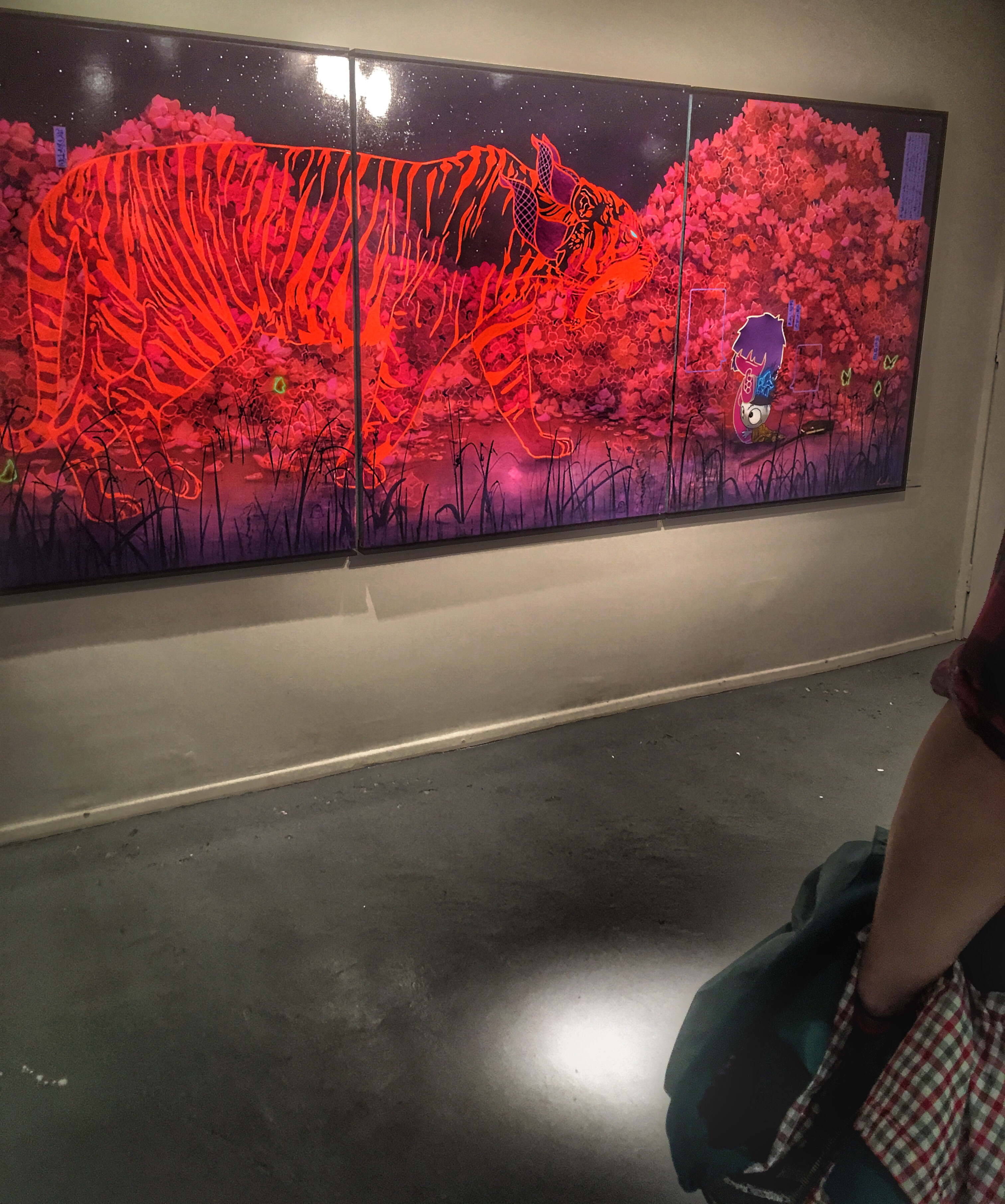 Megan Megan & The Chaos Blossom by British artist Tom Lewis taken by ray sang from his London solo art show in Mayfair
