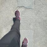 Dance blogger Tamar walking and taking steps forward