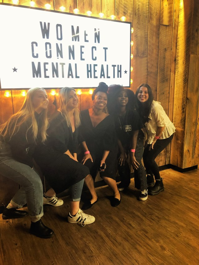 The ladies of women connect at their mental health event