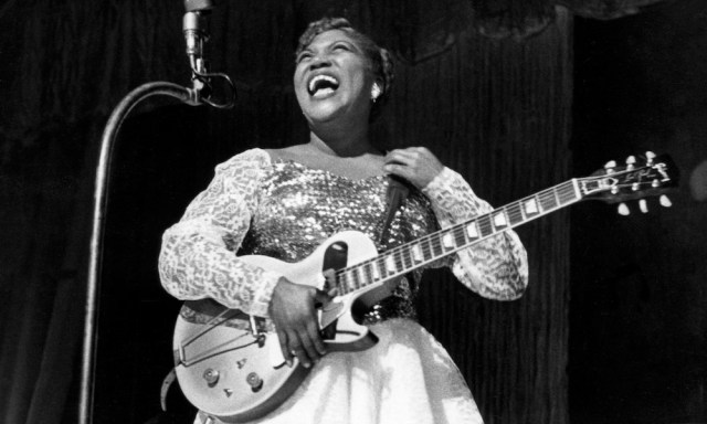 sister rosetta Tharpe, one of the black women responsible for rock