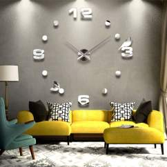 Big Wall Clocks For Living Room Purple Curtains 15 Time Designs With Huge