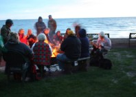 Traditional bonfire at the Shallows