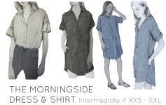 French Navy Morningside Dress & Shirt Sew Along