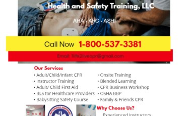 1 Life 2 Live Health and Safety Training