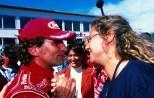 Daniela Zanardi, esposa de Alex Zanardi; esta foto es de 1998. FOTO: Archivo)